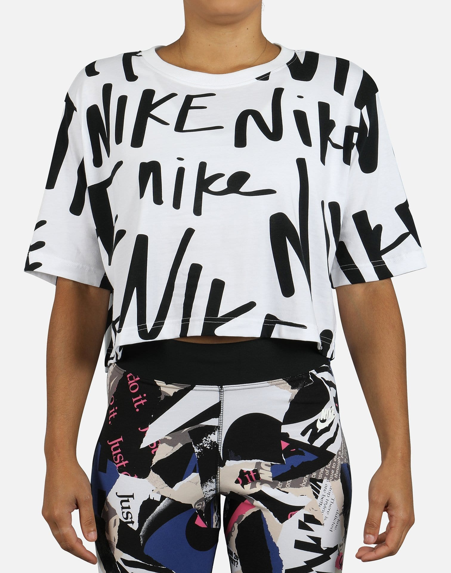 Nike Women's Logo Mash Crop Top