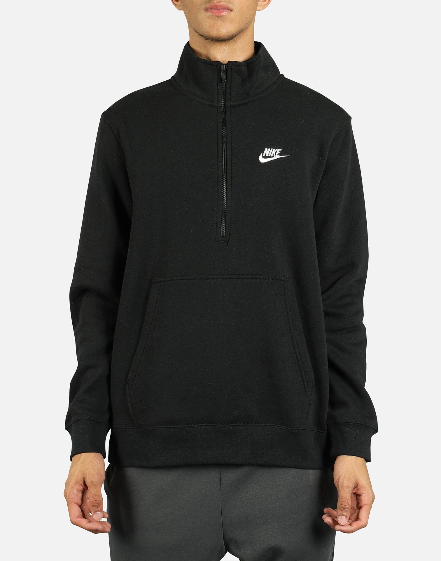 Nike NSW Men's Club Brushed Fleece Half Zip Sweatshirt
