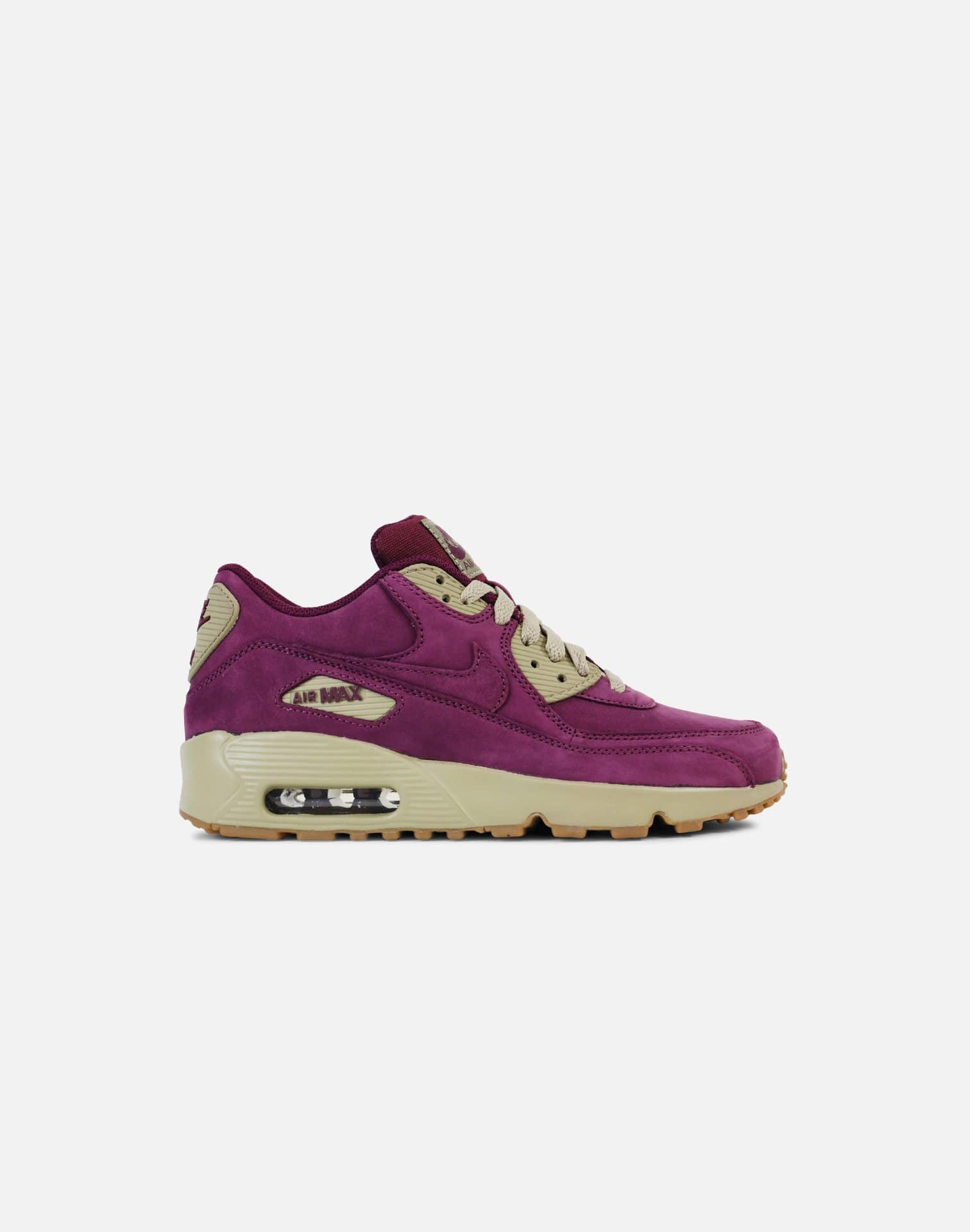 Nike Air Max 90 Winter Premium Grade-School (Bordeaux/Bordeaux-Bamboo-Gum Light Brown)