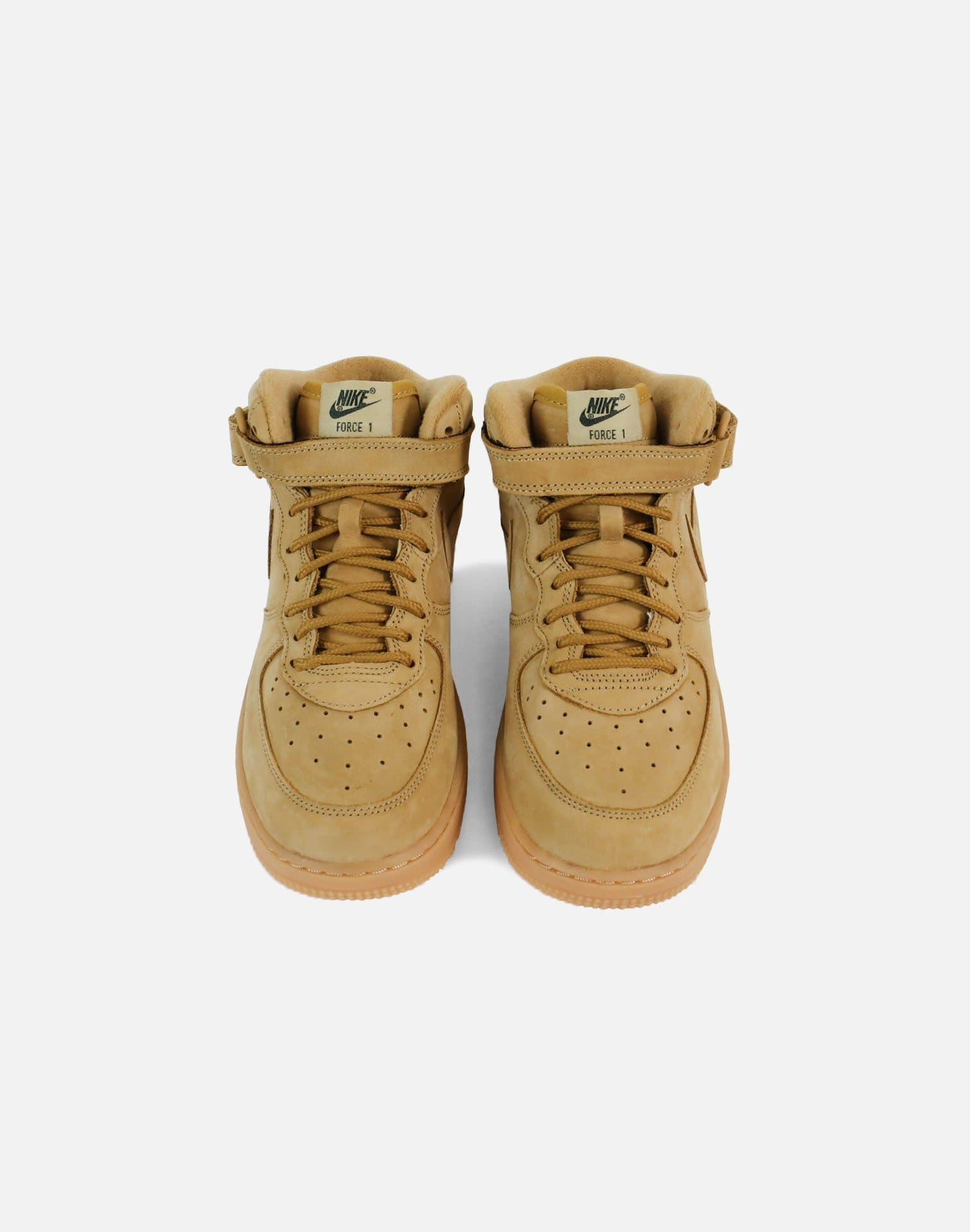 Nike Air Force 1 Mid Pre-School (Flax/Flax-Outdoor Green-Gum Light Brown)