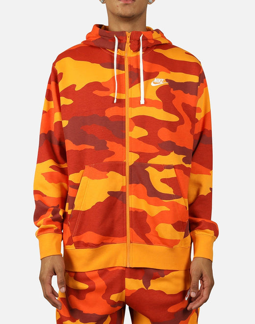 NSW CLUB FLEECE CAMO FULL-ZIP HOODIE