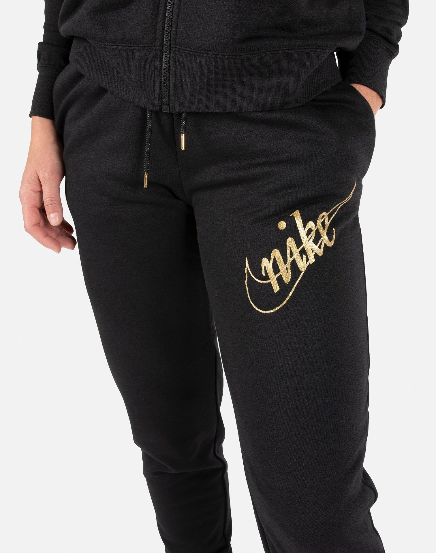 Nike Women's Glitter Fleece Jogger Pants