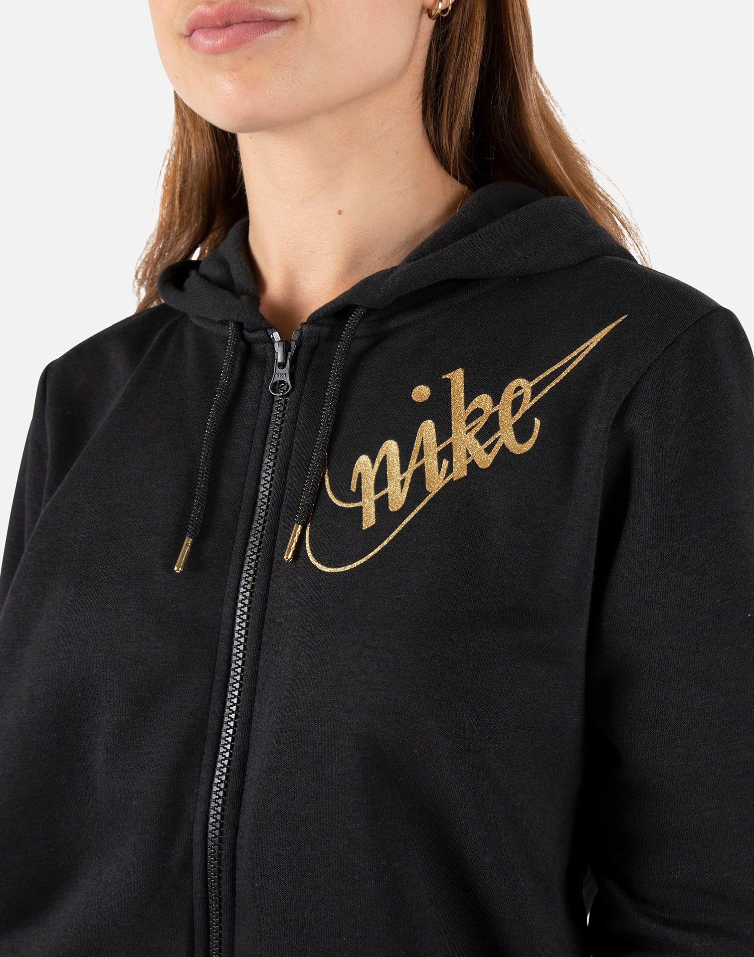 Nike Women's Glitter Fleece Full Zip Hoodie