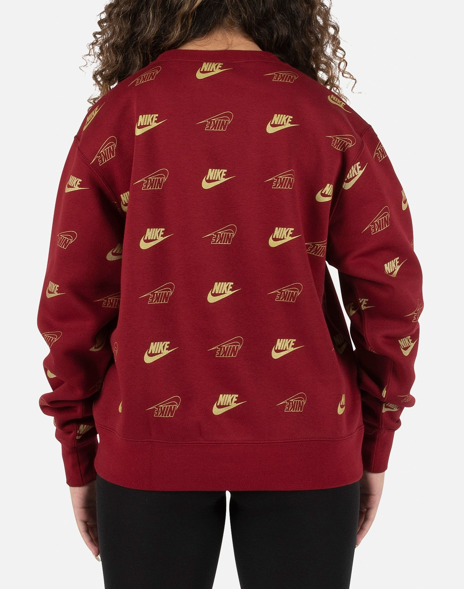 Nike Women's NSW Shine All Over Print Crew
