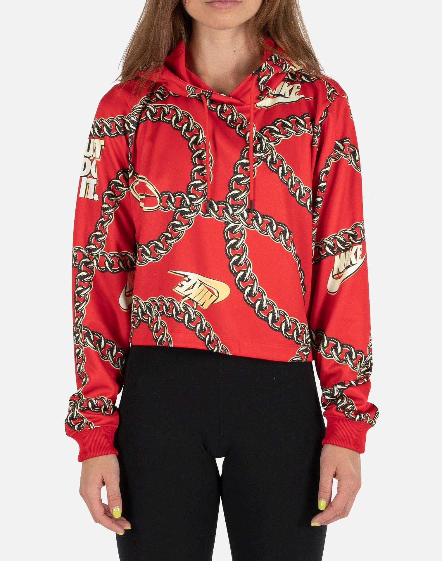 NSW ICON CLASH CROPPED HOODIE