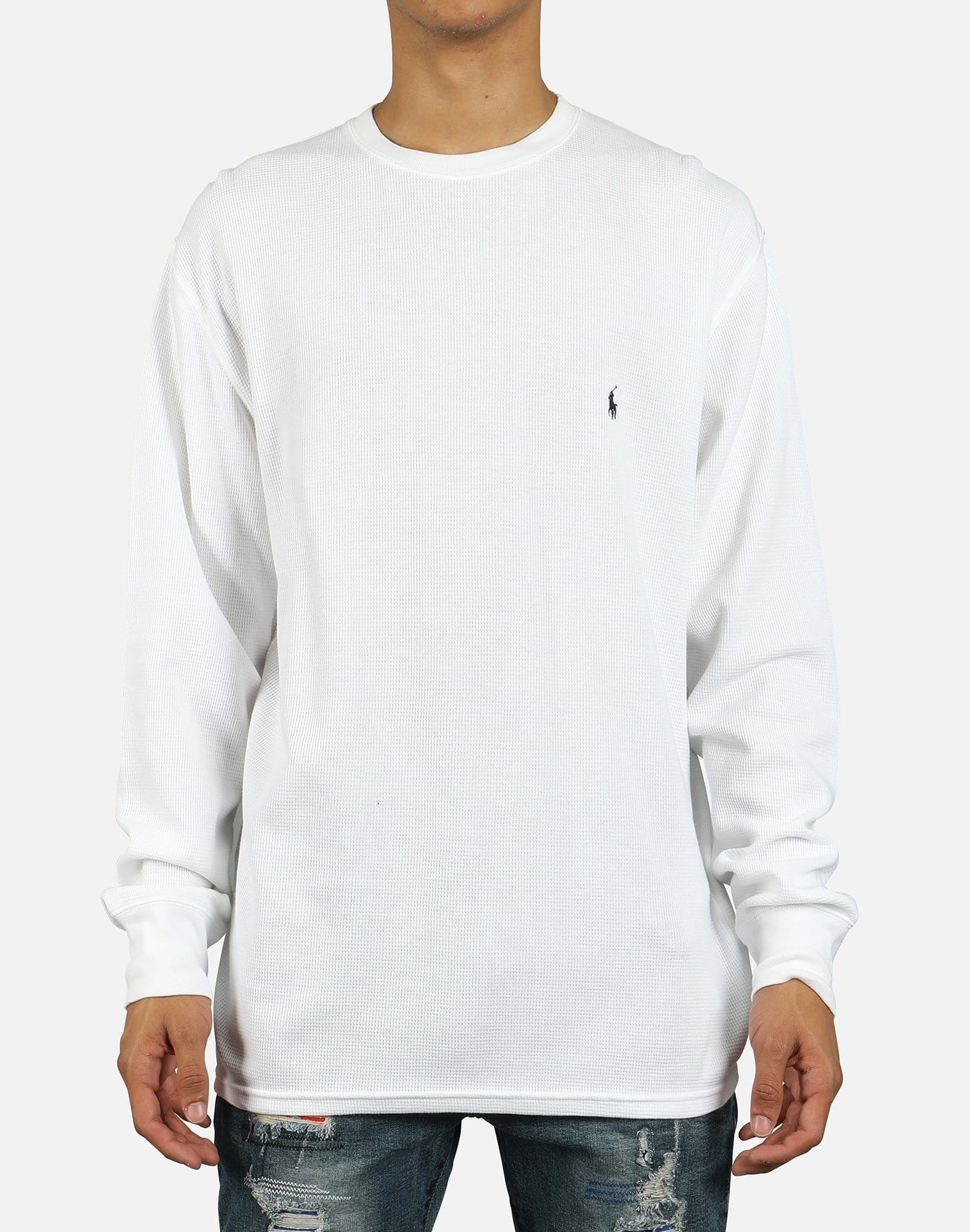 Polo Men's Waffle Knit Crewneck Thermal