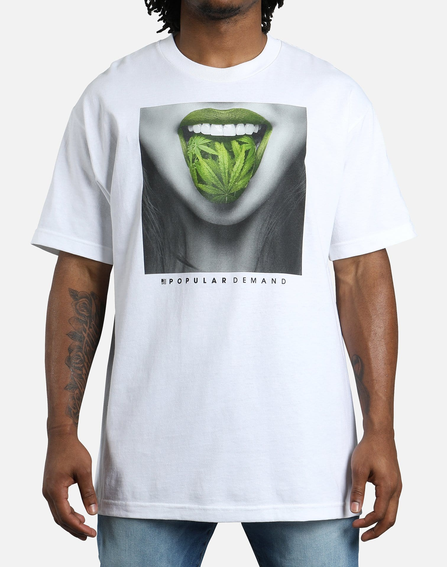 Popular Demand Green Tongue Tee