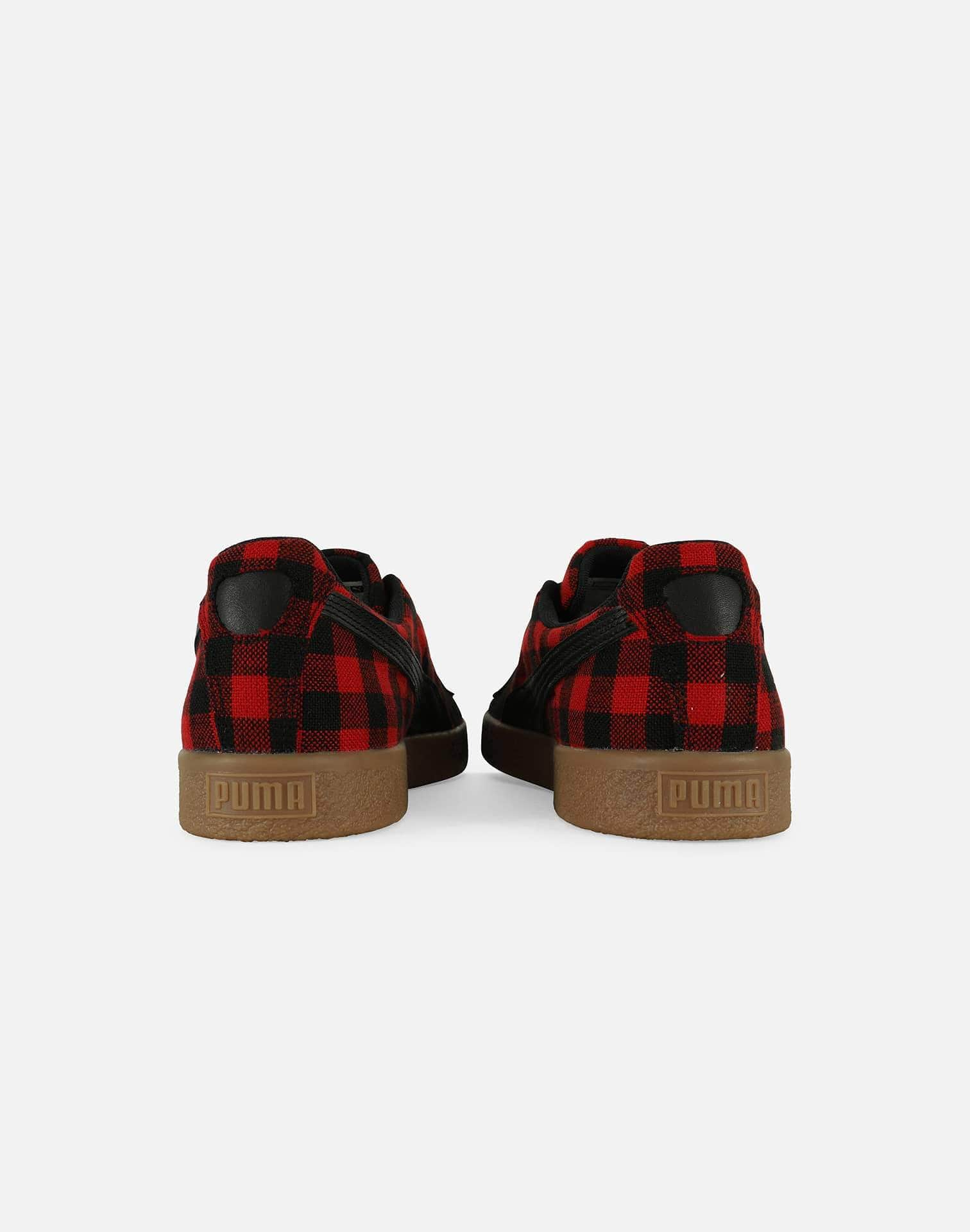 PUMA Men's Clyde Red Buffalo Plaid