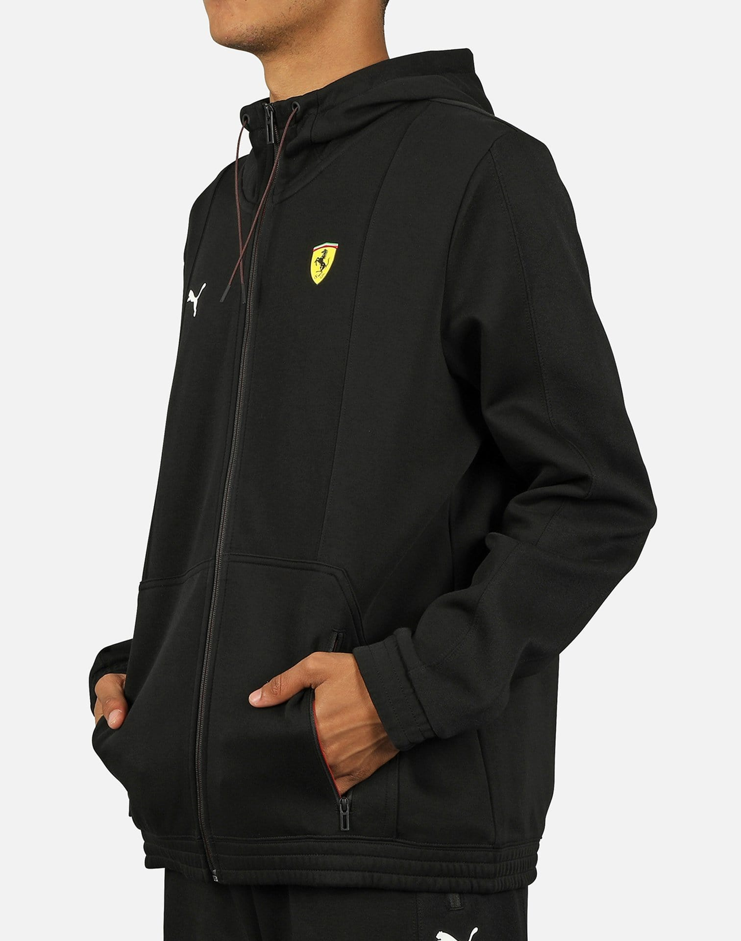 FERRARI*PUMA*HOODED SWEAT JACKET*BLACK//*MEN/'S SIZE X LARGE* brand NEW W//TAGS