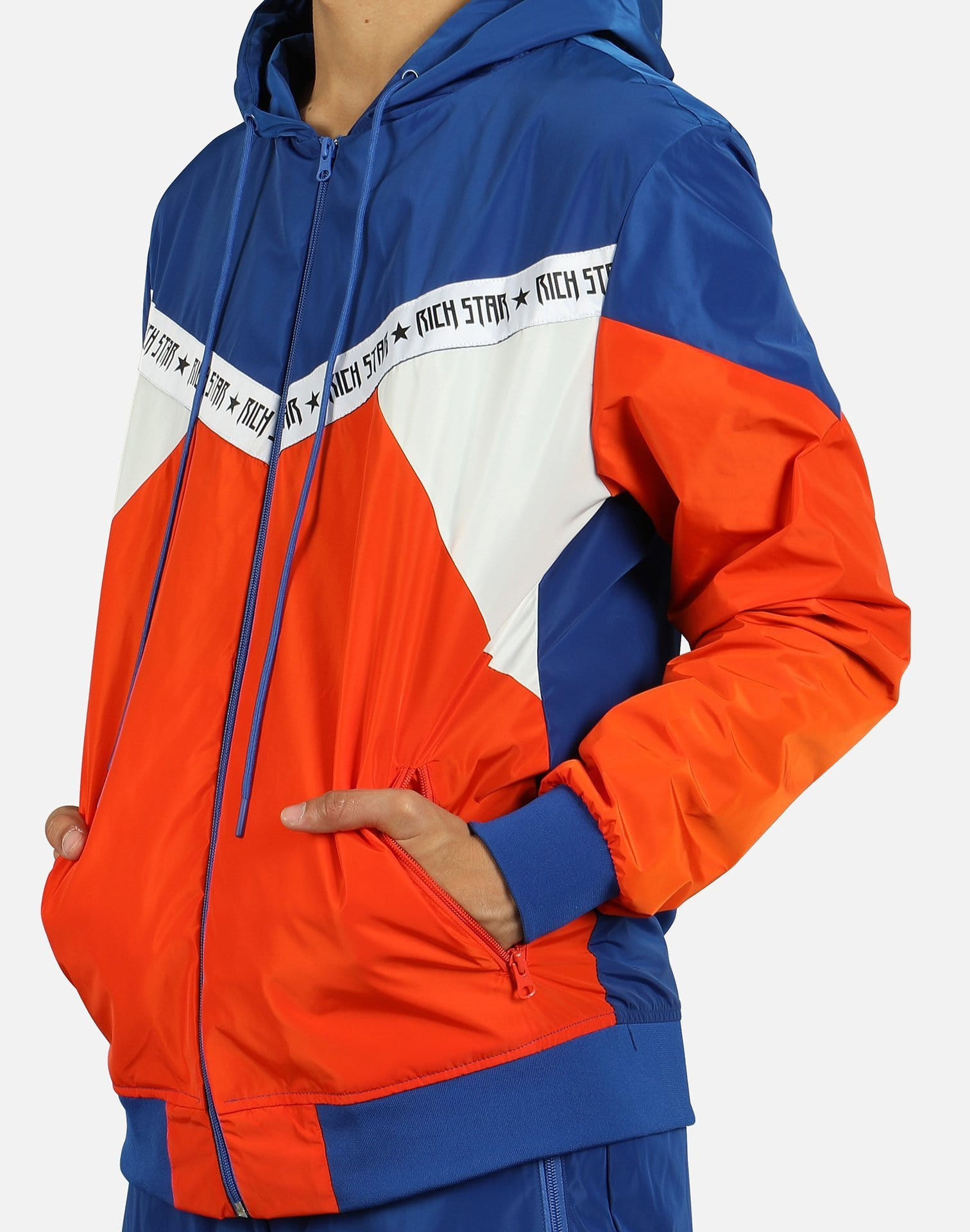 Rich Star Men's Taping Colorblock Track Jacket