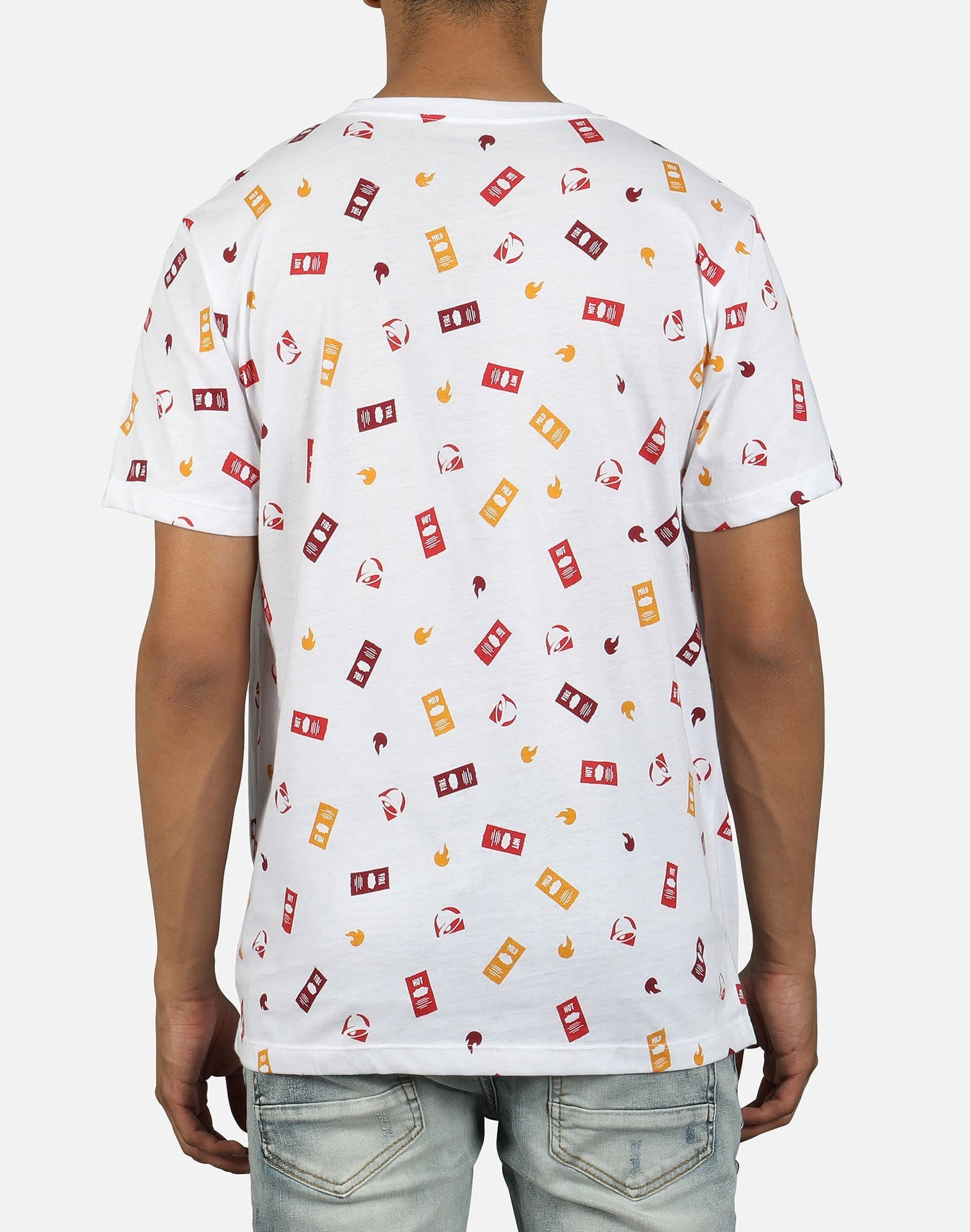 Ripple Junction Men's Taco Bell Sauce AOP Tee