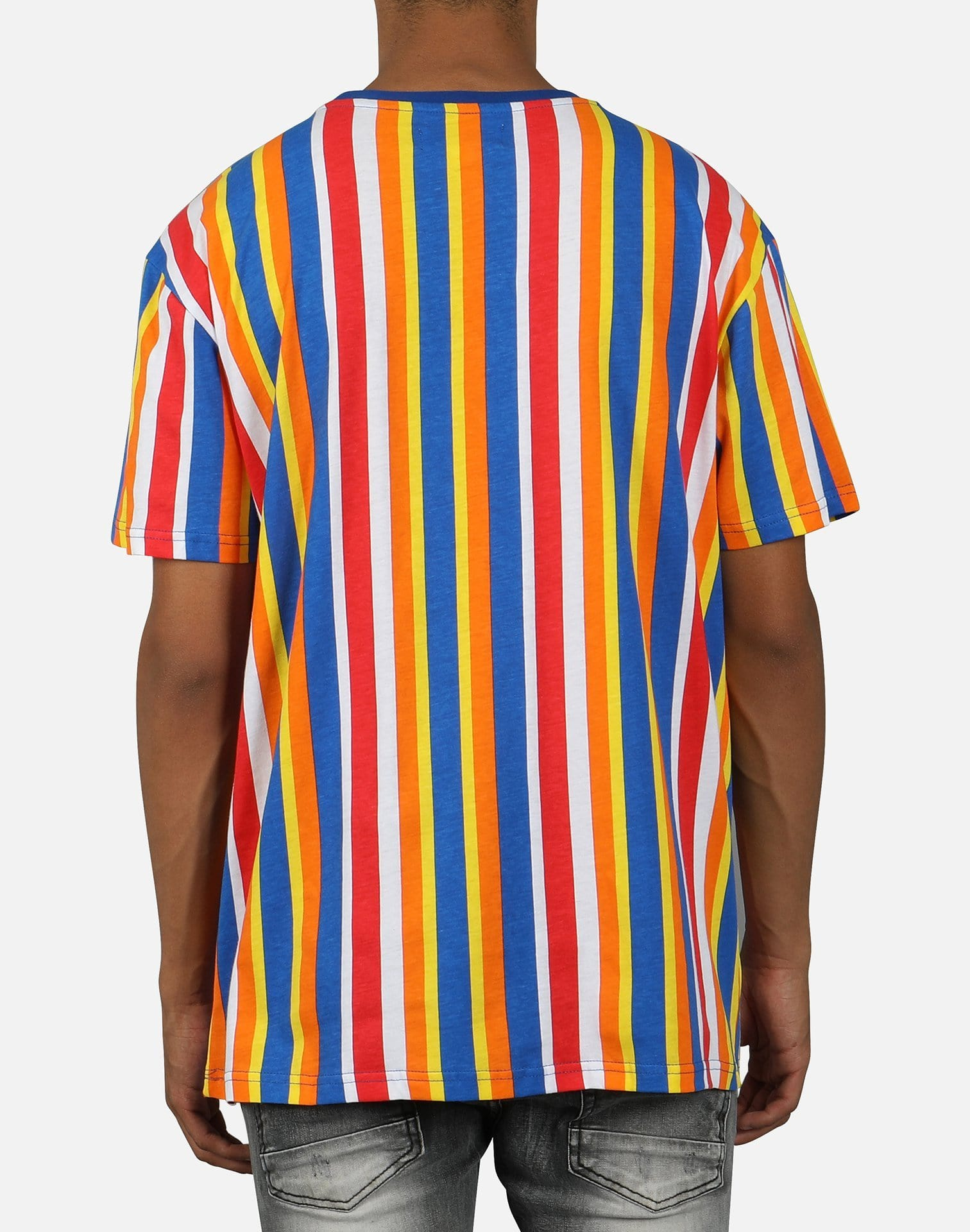 Ross Henderson Development Group Men's Skinny Vertical Stripe Tee