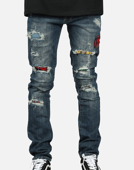 Smoke Rise Men's Patched Denim