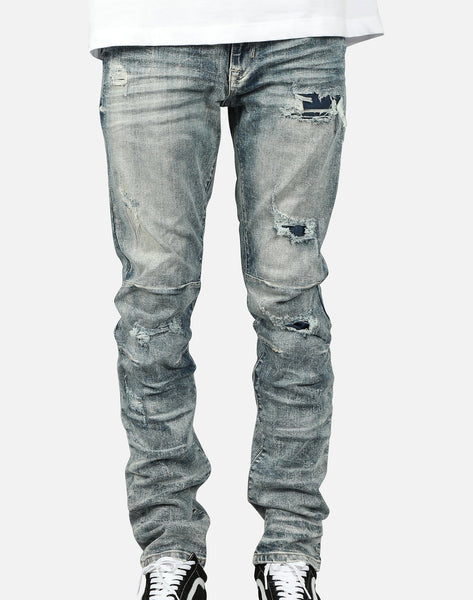 Smoke Rise Men's Slim Distressed Jeans