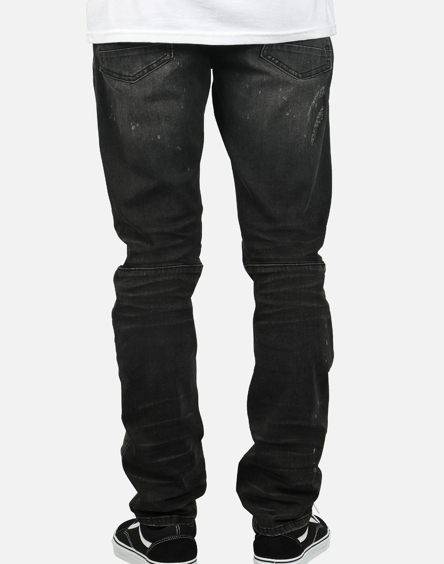 Smoke Rise Men's Distressed Slim Fit Denim