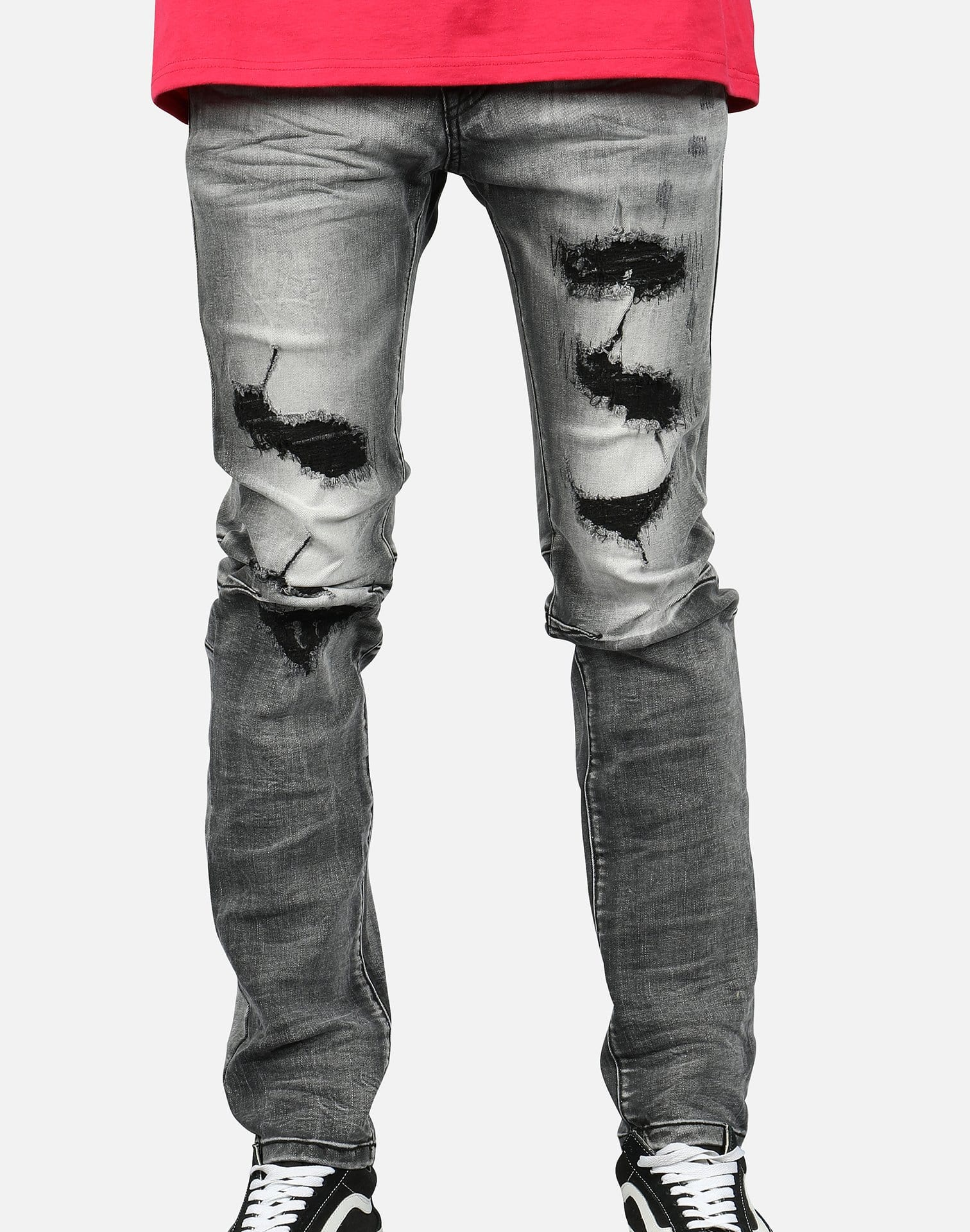 MENS SMOKE RISE RIP OFF DENIM
