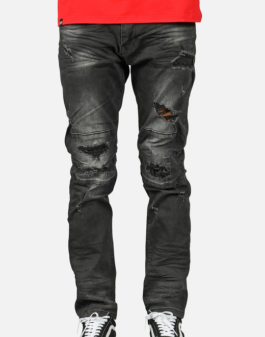 Smoke Rise Men's Rip Repair Denim Jeans
