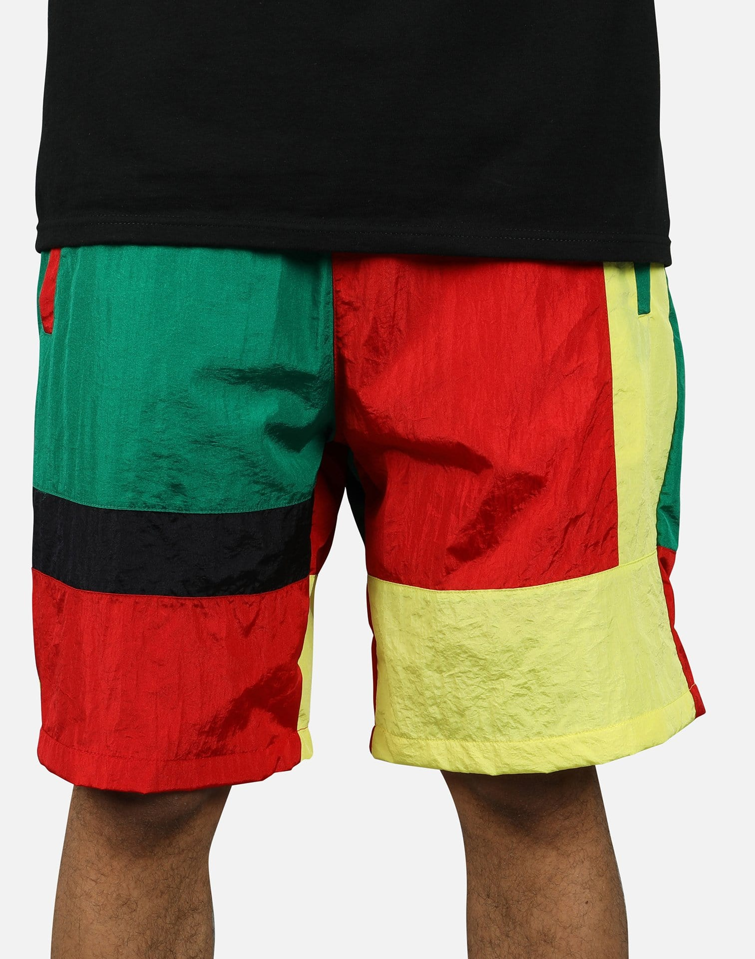 Smoke Rise Men's Colorblock Nylon Shorts