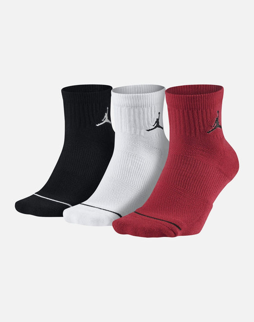 Jordan 3-Pack Jumpman High-Intensity Quarter Socks