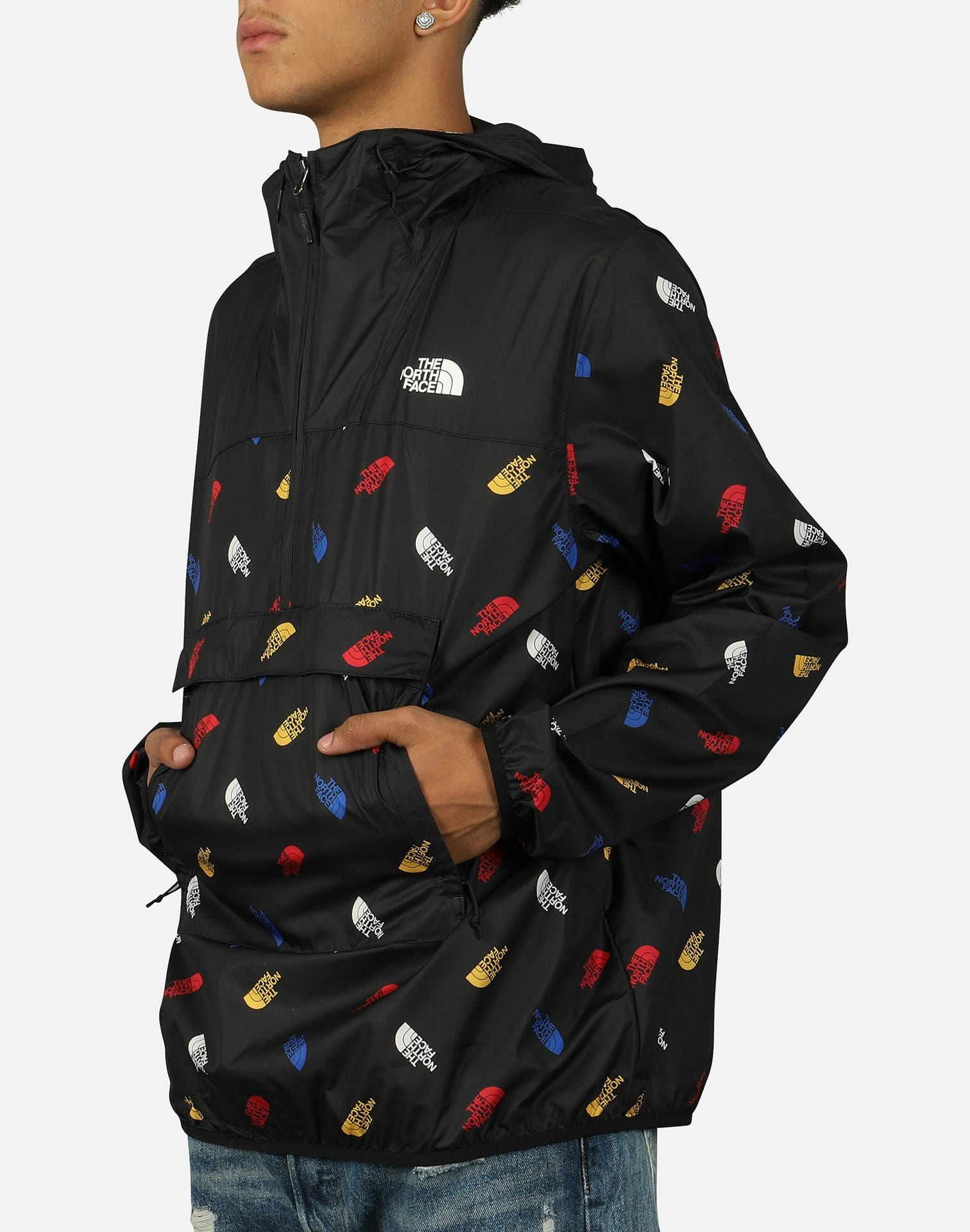 The North Face Men's TNF All-Over Logo Fanorak Jacket