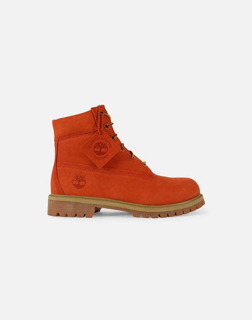 Timberland x DTLR Exclusive 6-Inch Premium Waterproof 'Orange Blaze' Boots Grade-School