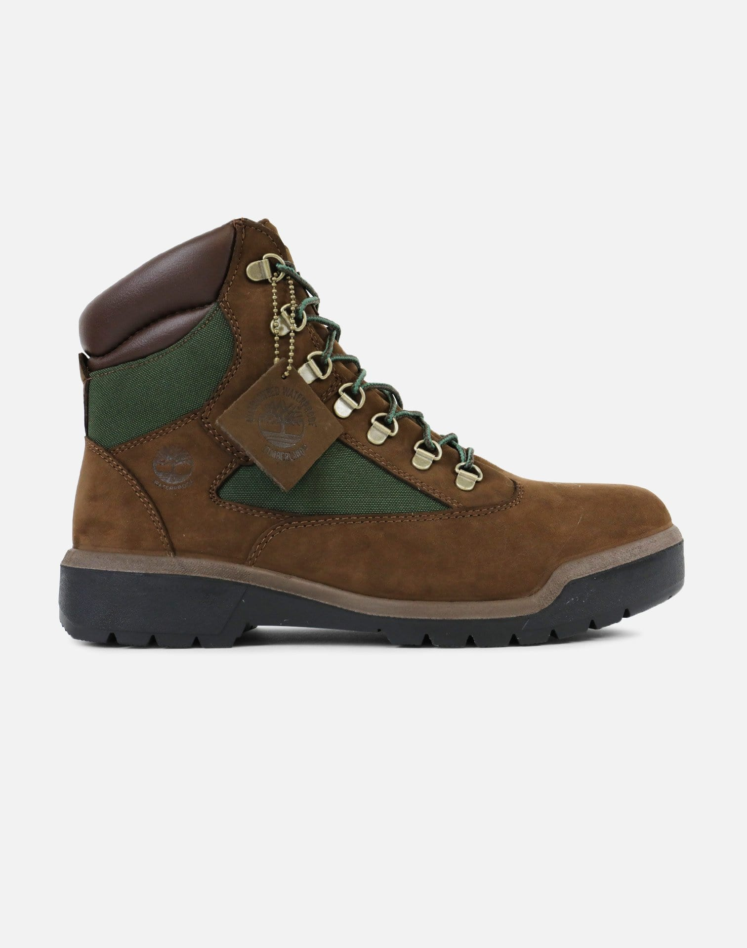 "Timberland 6"" Beef & Broccoli Field Boot (Brown Nubuck/Olive Green)"