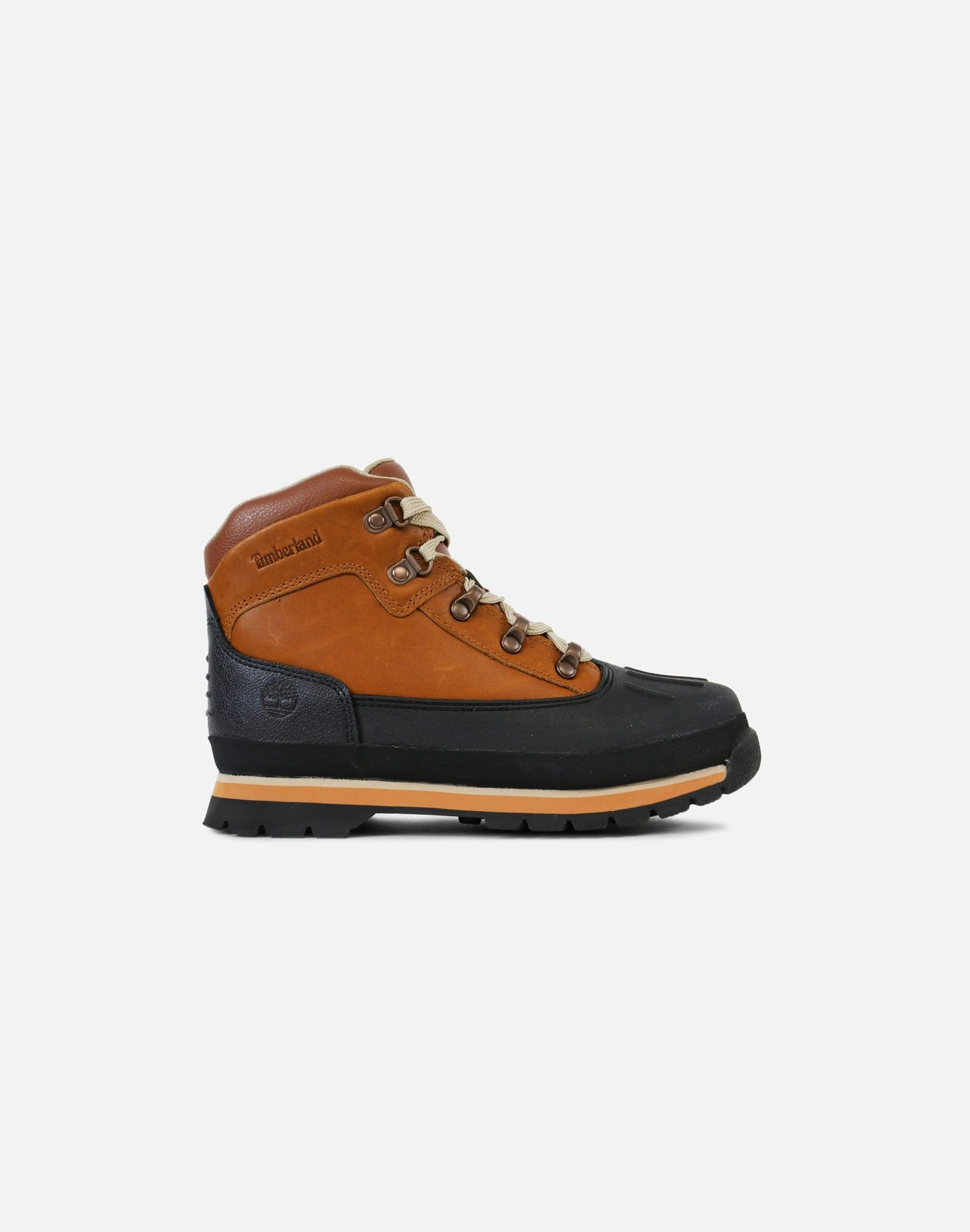 Timberland Shell Toe Euro Hiker Boots Pre-School (Burnt Orange/Black)