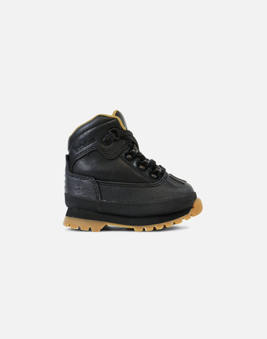 Timberland Shell Toe Euro Hiker Boots Infant (Black/Full Grain)