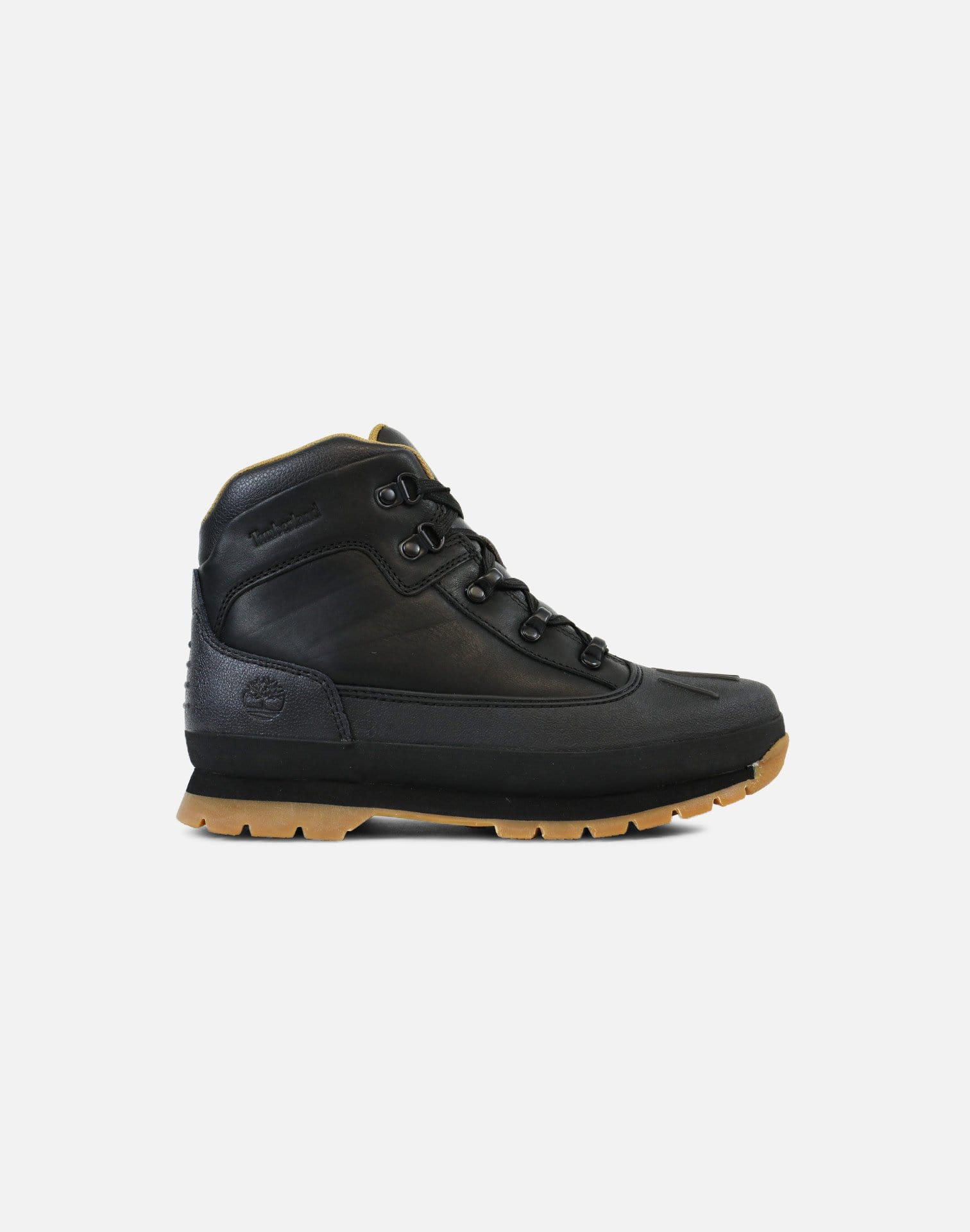 Timberland Shell Toe Euro Hiker Boots Grade-School (Black/Full Grain)