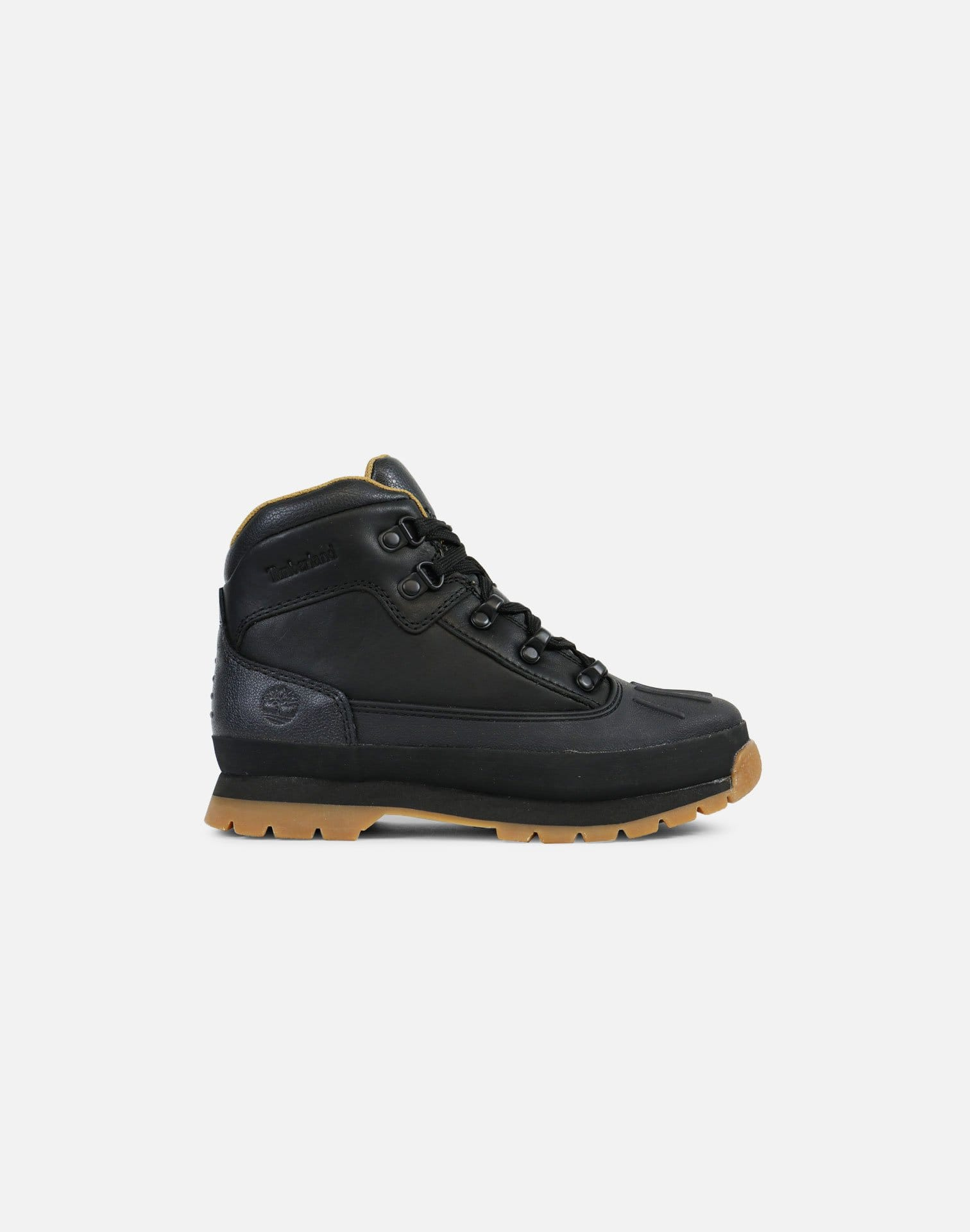 Timberland Shell Toe Euro Hiker Boots Pre-School (Black/Full Grain)