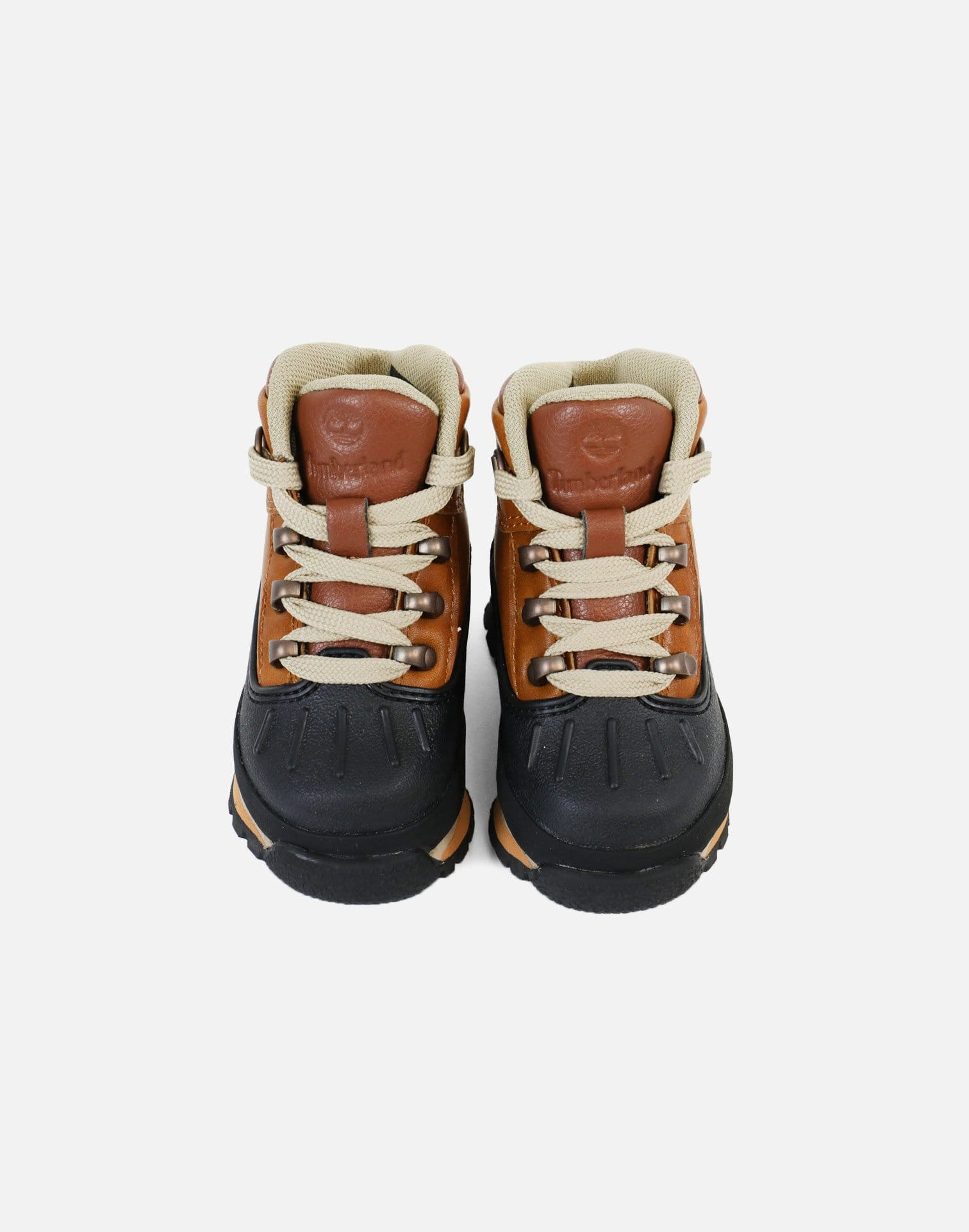 Timberland Shell Toe Euro Hiker Boots Infant (Burnt Orange/Black)