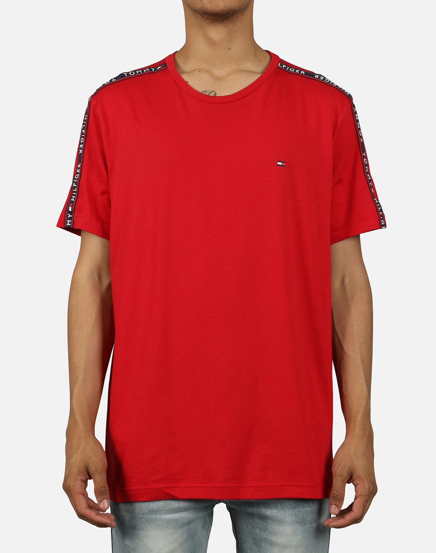 Tommy Hilfiger Men's Repeated Logo Taped Tee