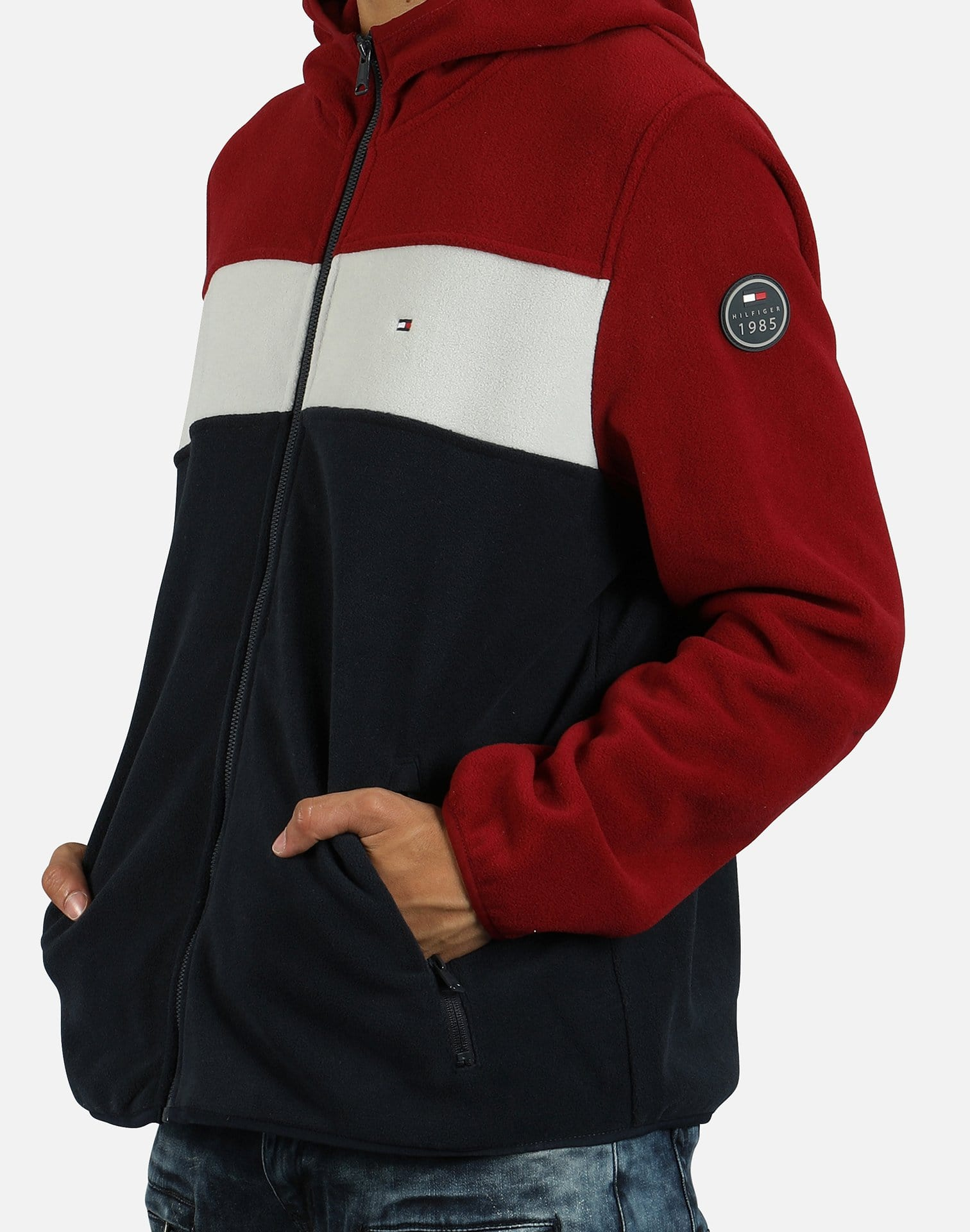 Tommy Hilfiger Men's Colorblock Fleece Full-Zip Hoodie