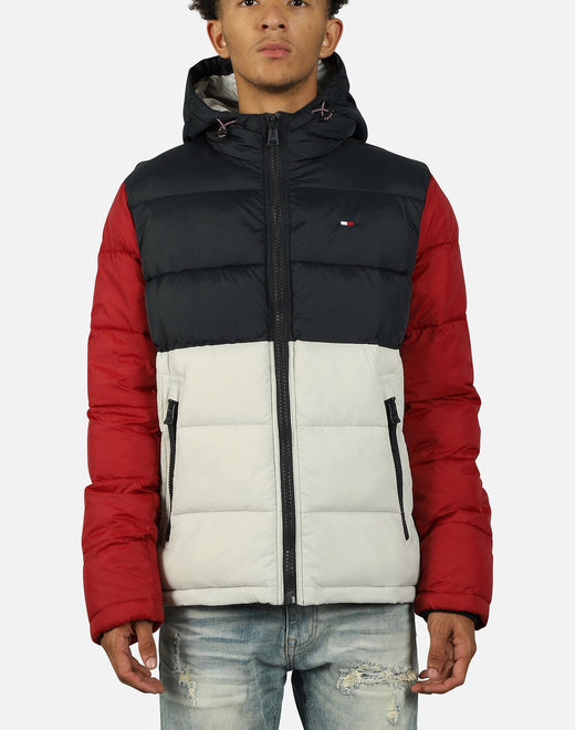 Tommy Hilfiger Men's Nylon Colorblock Puffer Jacket