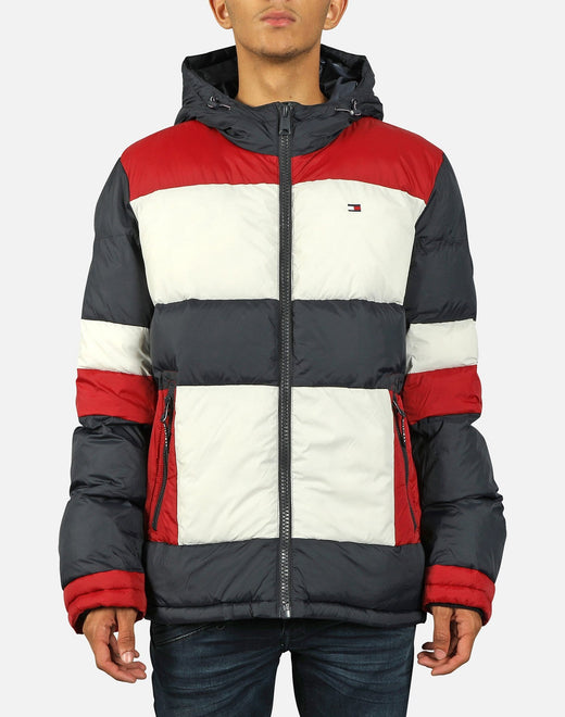 Tommy Hilfiger Men's Crazy Colorblock Puffer Jacket