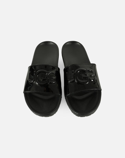 UGG Women's Royale Graphic Metallic Slides