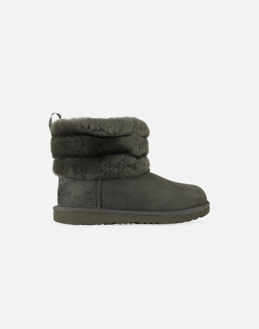UGG Fluff Mini Quilted Logo Boots Grade-School