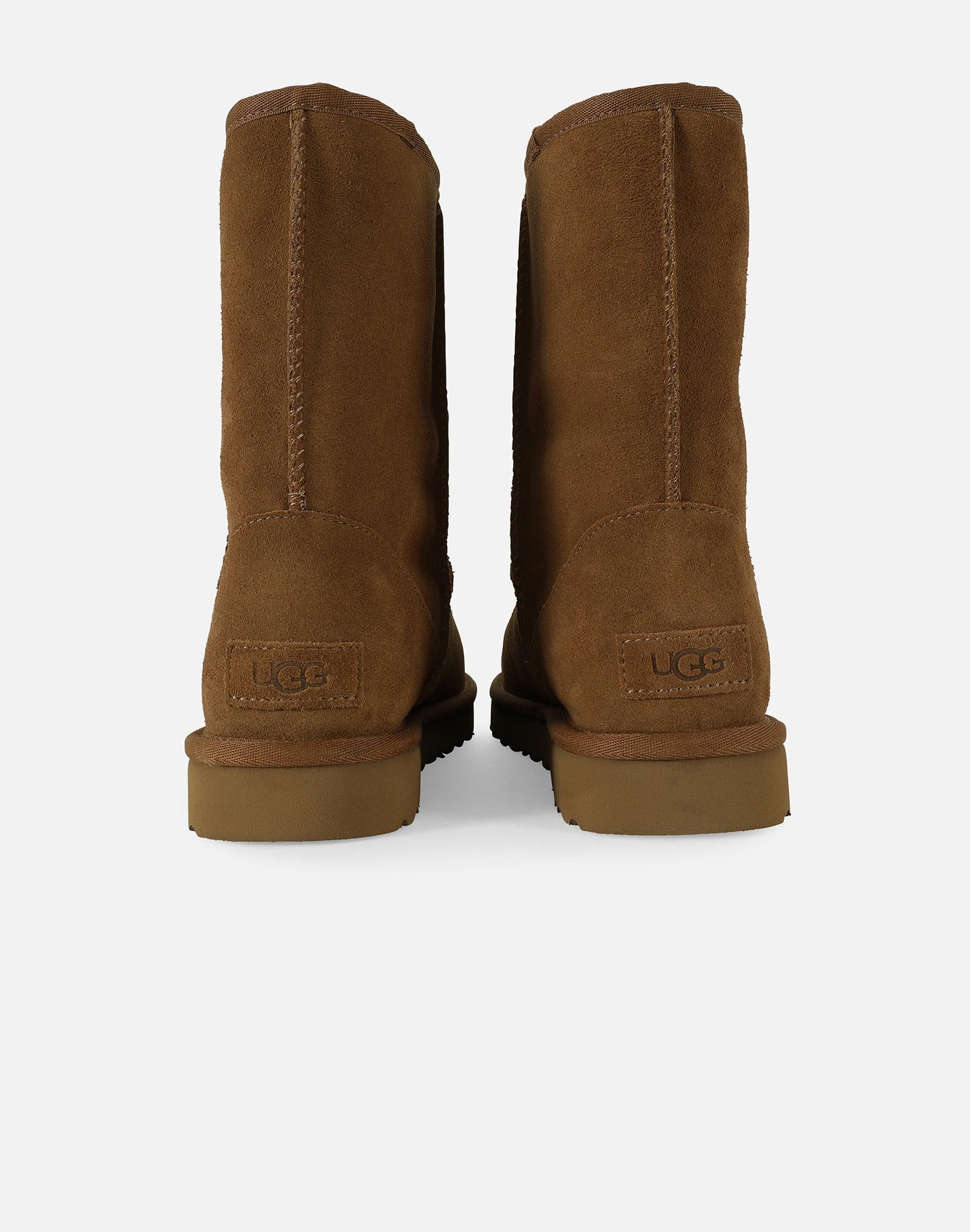 CLASSIC SHORT UGG RUBBER LOGO BOOTS
