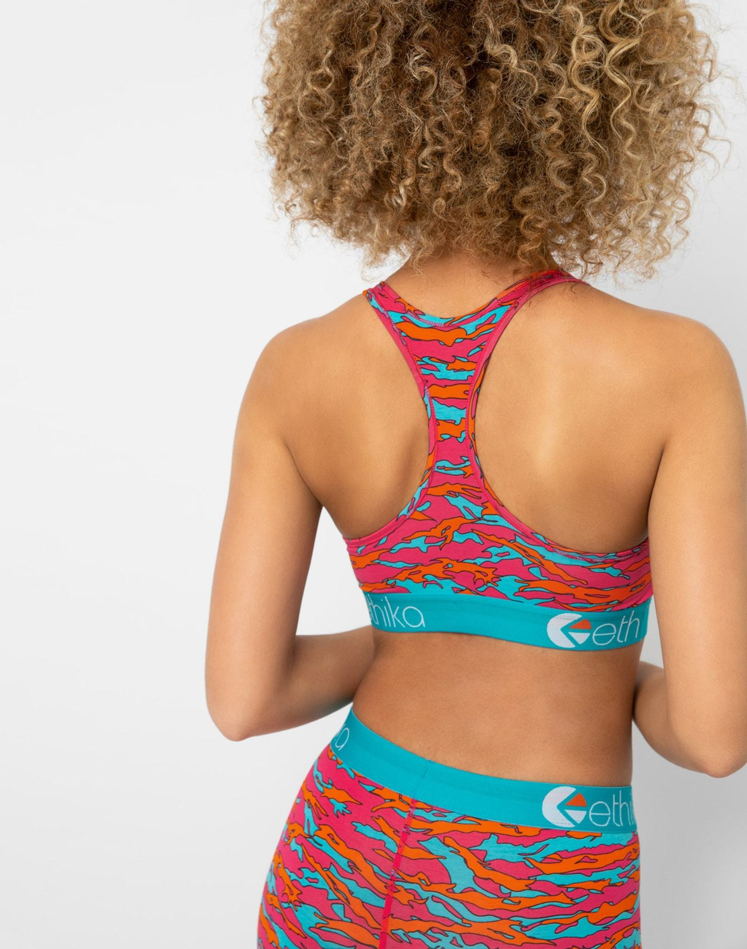 Ethika Women's Tiger Pop Sports Bra