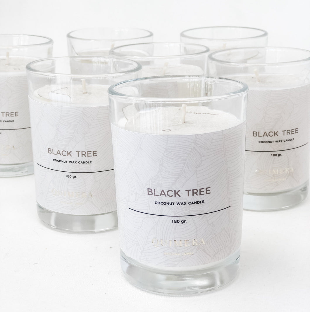 BLACK TREE (coconut wax candle)