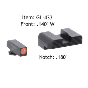 AmeriGlo GL-433 Hackathorn Sight Set for Glock