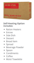 Load image into Gallery viewer, MRE: Case 12 meals w/ heaters