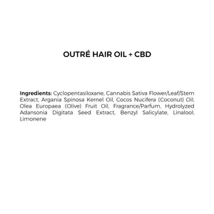 cbd hair oil ingredients list