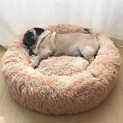 Super Soft Self-Warming Round Dog Bed