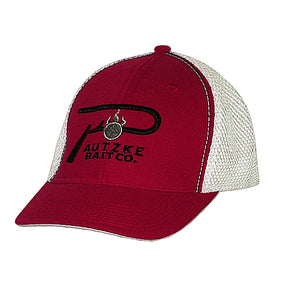 Pautzke Bait Co Red Mesh Hat