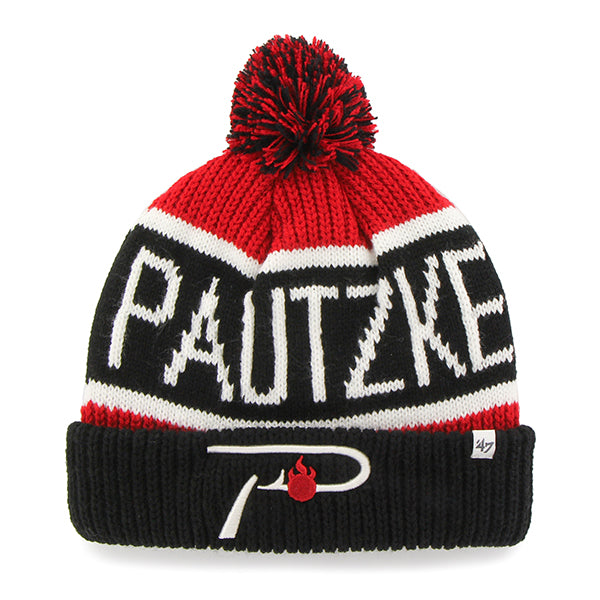 Pautzke Red/Black Knit Beanie