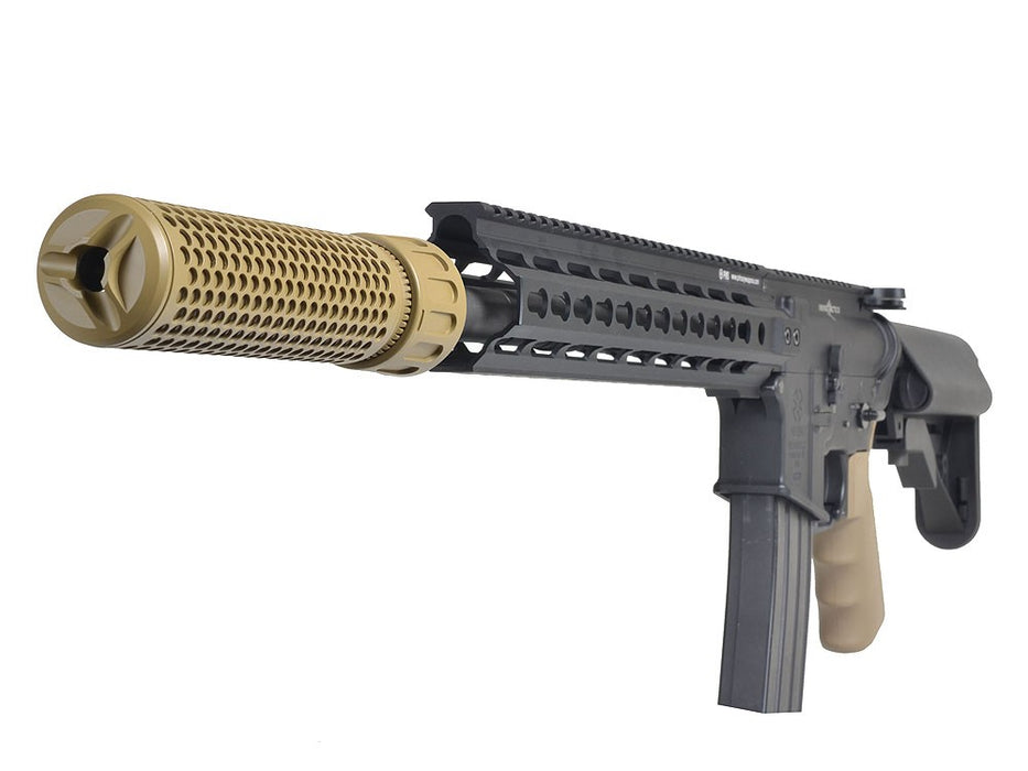 Knight's Armament Airsoft Fully Lic. KAC QDC Quick Detach Barrel Extension in Tan OEM by Madbull Airsoft - CCW