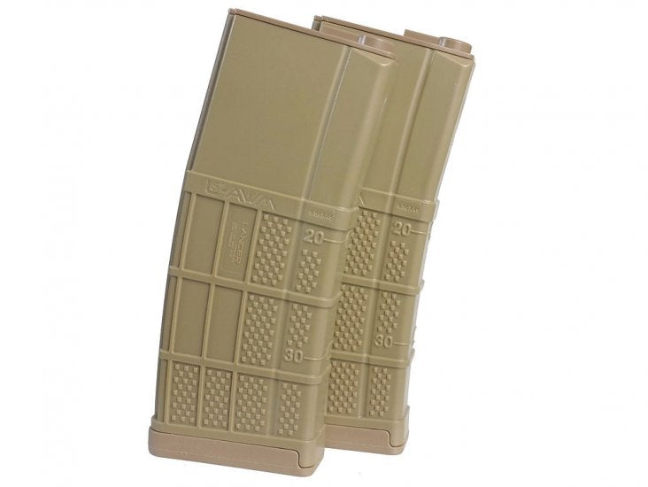 Socom Gear Lancer 340rnds L5 AWM High Cap Mag in FDE -2pk