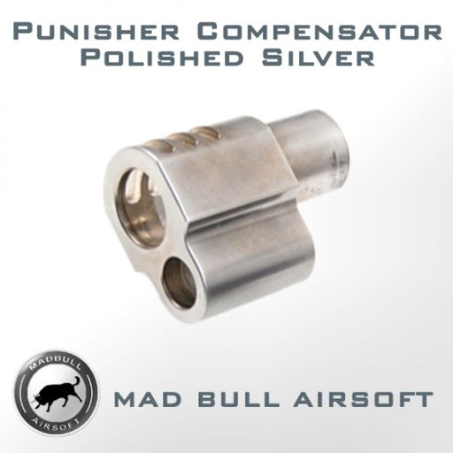 Madbull Airsoft Compensator - M1911 Punisher in Silver