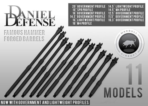 Madbull Airsoft Daniel Defense licensed Aluminum Outer Barrels for M4/M16
